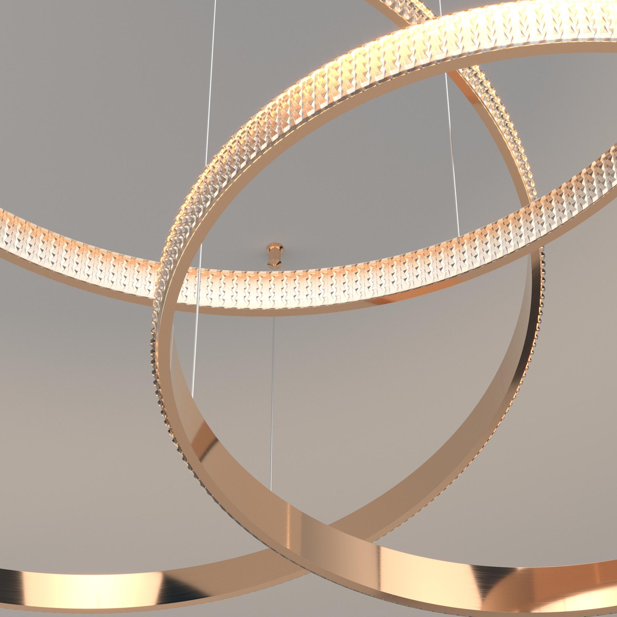 Подвесной светодиодный светильник Eurosvet Smart Posh 90275/3 медный