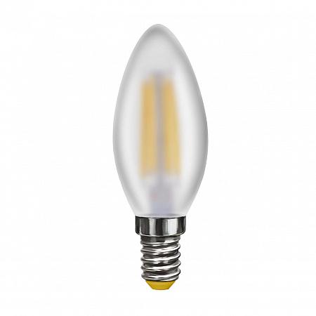 Лампа светодиодная E14 4W 4000К свеча матовая VG10-C2E14cold4W-F 7000