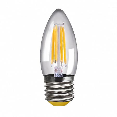 Лампа светодиодная E27 4W 4000К свеча прозрачная VG10-C1E27cold4W-F 8335