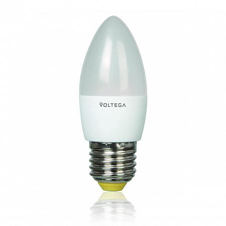 Лампа светодиодная E27 5.4W 4000К свеча матовая VG4-C2E27cold5W 5744