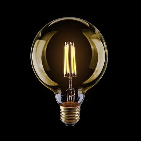 Лампа светодиодная диммируемая E27 4W 2800К шар золотой VG10-G95Gwarm4W 7013