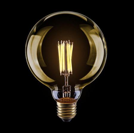 Лампа светодиодная диммируемая E27 8W 2800К шар золотой VG10-G125Gwarm8W 6838