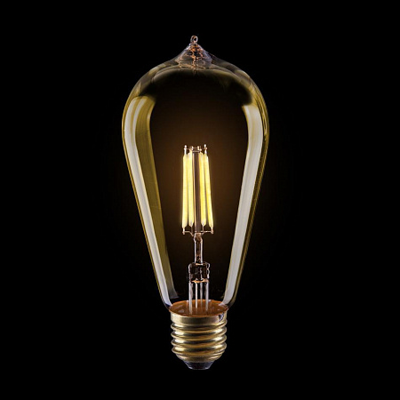 Лампа светодиодная E27 6W 2800К колба золотая VG10-ST64Gwarm6W 5526