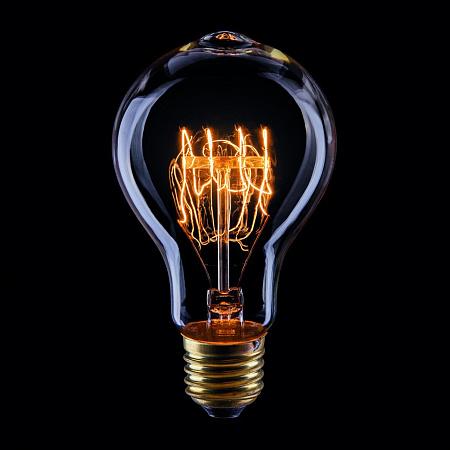 Лампа накаливания E27 40W груша прозрачная VG6-A75A3-40W 5930