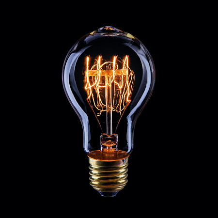 Лампа накаливания E27 60W груша прозрачная VG6-A19A3-60W 5929