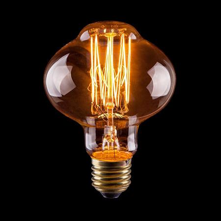 Лампа накаливания E27 60W груша прозрачная VG6-L85A1-60W 6487