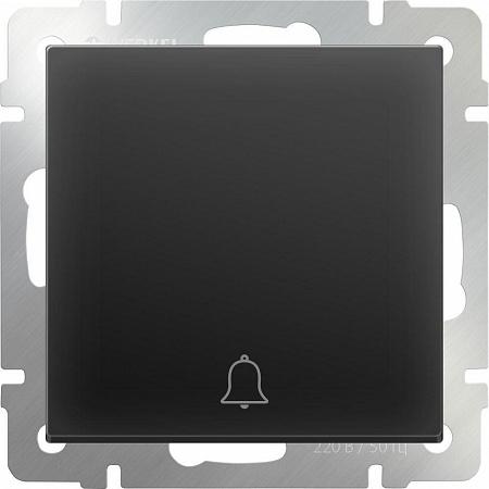 Кнопка звонка черная матовая WL08-04-01 4690389099861