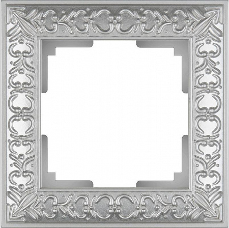 Рамка Antik на 1 пост жемчужный WL07-Frame-01 4690389063497