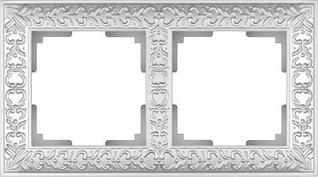 Рамка Antik на 2 поста жемчужный WL07-Frame-02 4690389063503