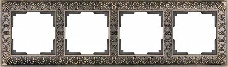 Рамка Antik на 4 поста бронза WL07-Frame-04 4690389054389