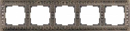Рамка Antik на 5 постов бронза WL07-Frame-05 4690389063657