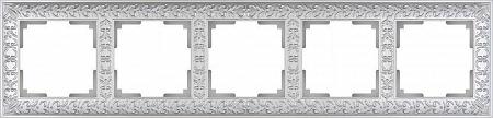 Рамка Antik на 5 постов жемчужный WL07-Frame-05 4690389063534