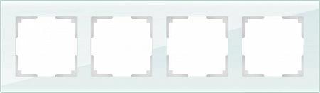 Рамка Favorit на 4 поста натуральное стекло WL01-Frame-04 4690389060199