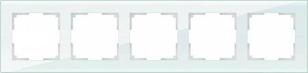 Рамка Favorit на 5 постов натуральное стекло WL01-Frame-05 4690389060205