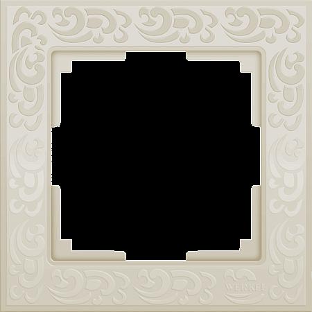 Рамка Flock на 1 пост слоновая кость WL05-Frame-01-ivory 4690389046902