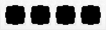 Рамка Flock на 4 поста белая WL05-Frame-04-white 4690389046735