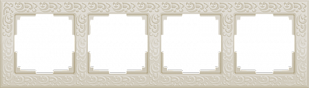 Рамка Flock на 4 поста слоновая кость WL05-Frame-04-ivory 4690389046933