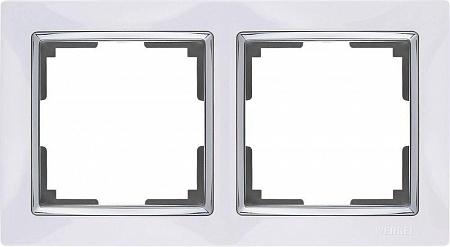 Рамка Snabb на 2 поста белая WL03-Frame-02-white 4690389046117