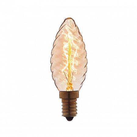 Лампа накаливания E14 40W свеча витая прозрачная 3560-LT