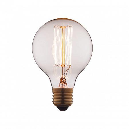 Лампа накаливания E27 40W шар прозрачный G8040