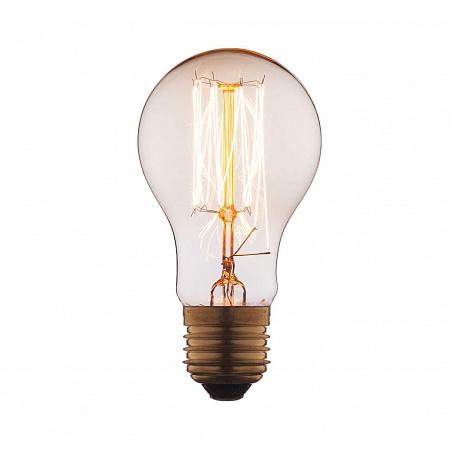 Лампа накаливания E27 60W груша прозрачная 1004-T