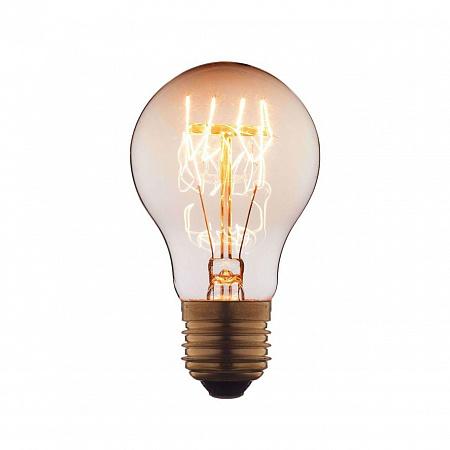 Лампа накаливания E27 60W груша прозрачная 7560-T