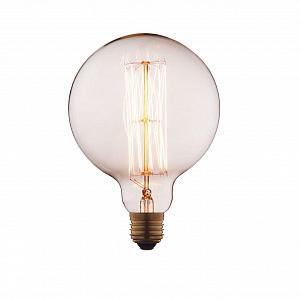 Лампа накаливания E27 60W шар прозрачный G12560