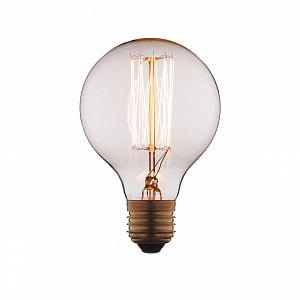 Лампа накаливания E27 60W шар прозрачный G8060