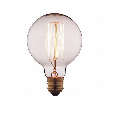 Лампа накаливания E27 60W шар прозрачный G9560