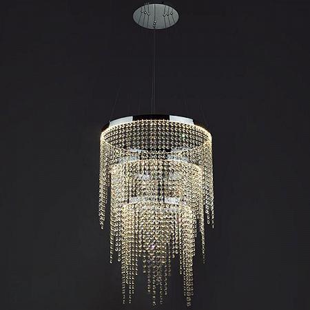 Подвесной светодиодный светильник Eurosvet Royal 90050/3 хром