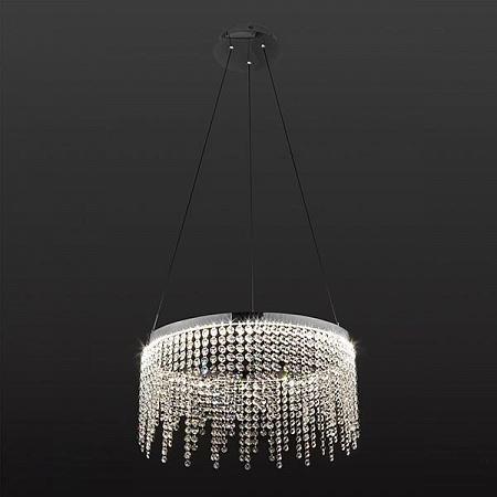 Подвесной светодиодный светильник Eurosvet Royal 90050/1 хром