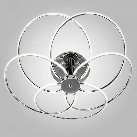 Потолочный светодиодный светильник Eurosvet Infinity 90039/5 хром