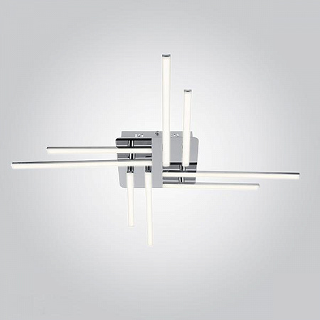 Потолочный светодиодный светильник Eurosvet Vector 90040/8 хром