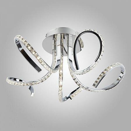 Потолочный светодиодный светильник Eurosvet 90063/5 хром