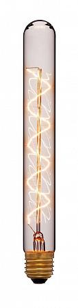 Лампа накаливания E27 60W трубчатая прозрачная 053-730