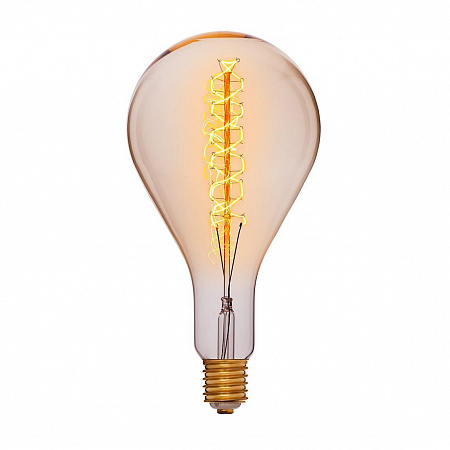 Лампа накаливания E40 95W груша прозрачная 053-716