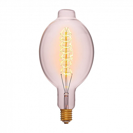 Лампа накаливания E40 95W груша прозрачная 053-822