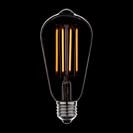 Лампа светодиодная диммируемая E27 4W груша прозрачная 056-762