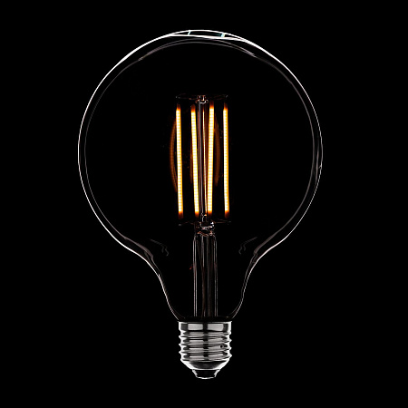 Лампа светодиодная диммируемая E27 4W шар прозрачная 056-786