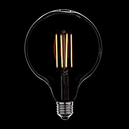 Лампа светодиодная диммируемая E27 4W шар прозрачная 056-809