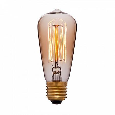 Лампа накаливания E14 25W колба золотая 053-587