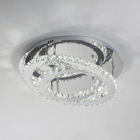 Потолочный светодиодный светильник с пультом ДУ Eurosvet Grasia 90066/2 хром
