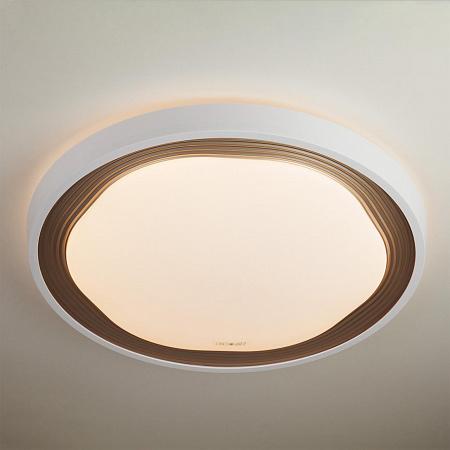 Потолочный светодиодный светильник с пультом ДУ Eurosvet Range 40006/1 LED кофе