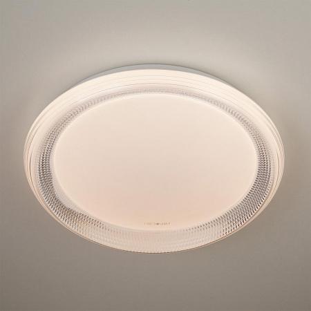 Потолочный светодиодный светильник с пультом ДУ Eurosvet Weave 40012/1 LED белый