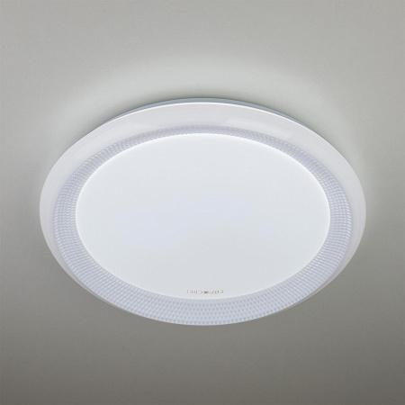 Потолочный светодиодный светильник с пультом ДУ Eurosvet Weave 40013/1 LED белый