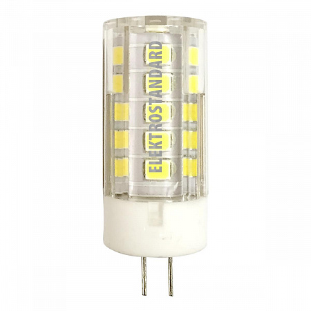 Лампа светодиодная G4 5W 4200K кукуруза прозрачная 4690389093661