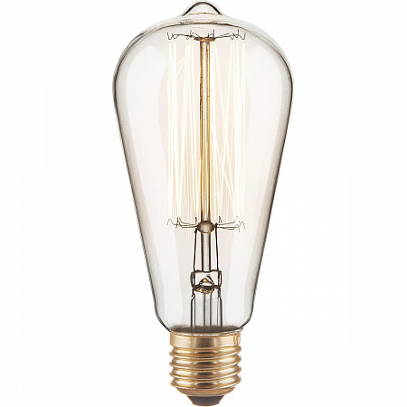 Лампа накаливания диммируемая E27 60W груша прозрачная 4690389082153