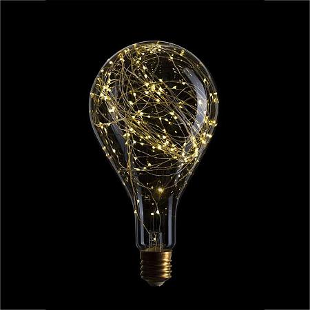 Лампа светодиодная E40 4,5W 2600K груша прозрачная 057-028