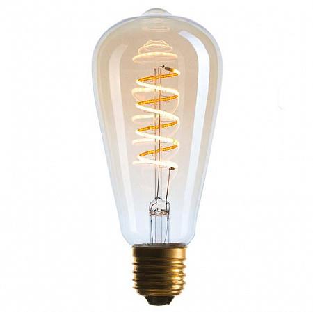 Лампа светодиодная диммируемая E27 4W 2200K колба золотая 056-977