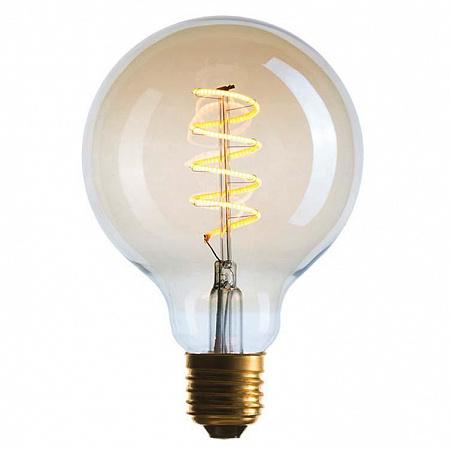 Лампа светодиодная диммируемая E27 4W 2200K шар золотой 056-984